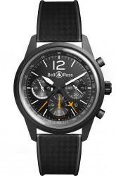 Bell & Ross: BR 126 Blackbird mit schwarzem Armband