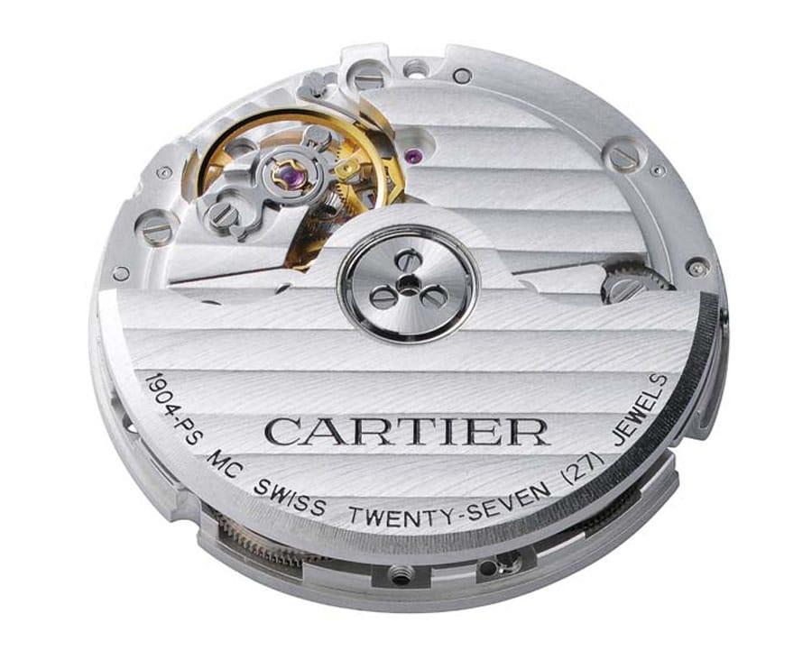 Cartier: das Kaliber 1904-PS MC besitzt einen Zentralrotor mit Keramikkugellager