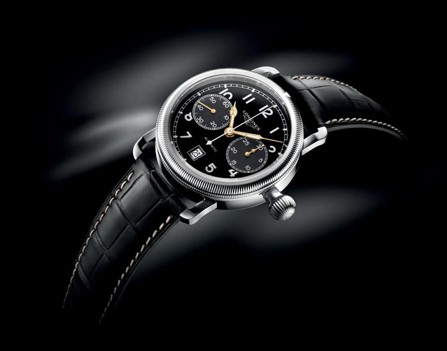 Longines: Avigation Oversize Crown Eindrückerchronograph
