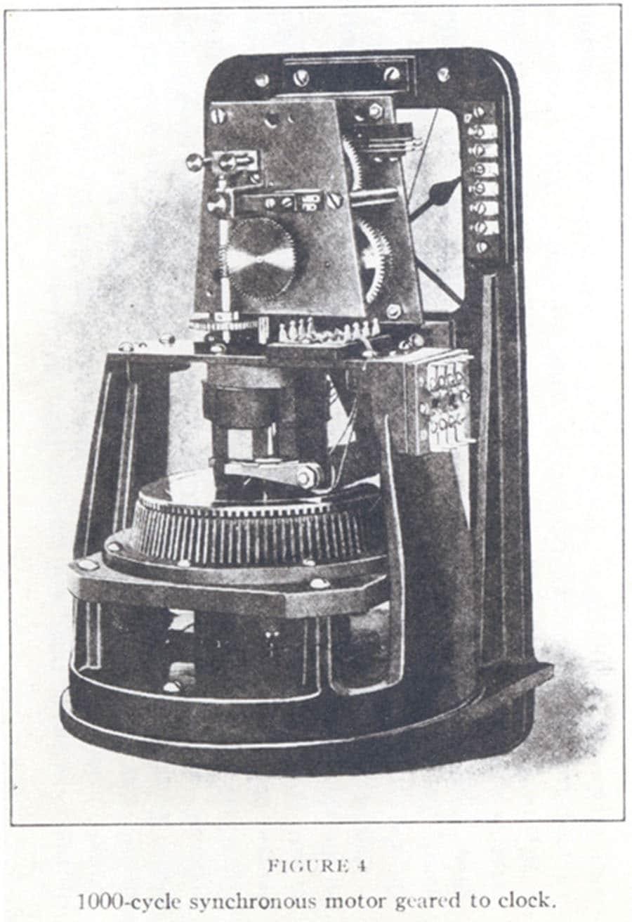 Die weltweit erste Quarzuhr: Sie entstand 1929, als Marrison einen Synchronmotor an den Quarz-Frequenzgenerator anschloss