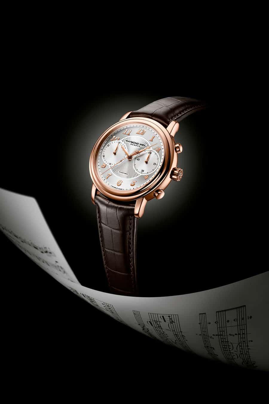 Raymond Weil: Der Maestro Chronograph mit PVD-Roségold Beschichtung