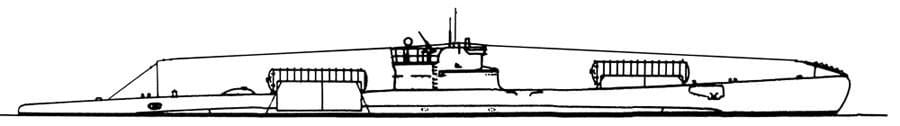 Skizze des U-Boots Ambra Foto: Archiv Ehlers & Wiegmann