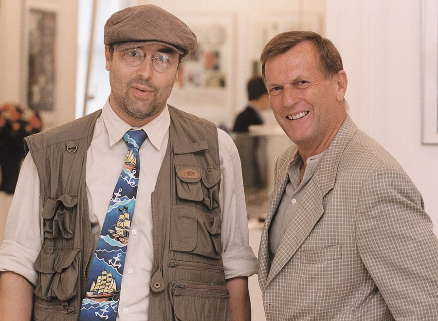 Der mittlerweile verstorbene Hauptaktionär Rolf Schnyder und sein damaliger Chefkonstrukteur Ludwig Oechslin (links)
