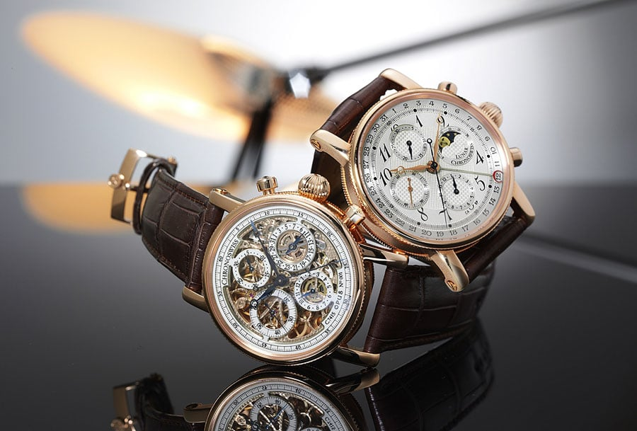 Chronoswiss: Chronograph Skeleton und Chronograph Moon Phase