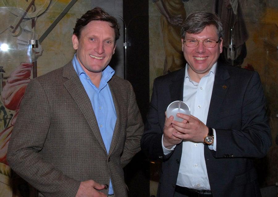 Preisträger Andreas Strehler (rechts) mit Stephen Forsey