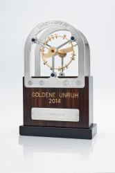 Die Trophäe für die Gewinner der »Goldenen Unruh 2014« fertigt die Münchner Großuhrenmanufaktur Erwin Sattler.