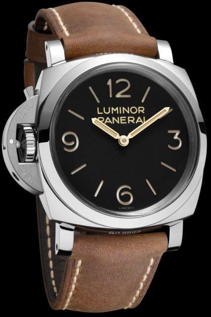 Luminor für Links: Die neue Uhr von Panerai trägt ihre Krone bei der Neun.