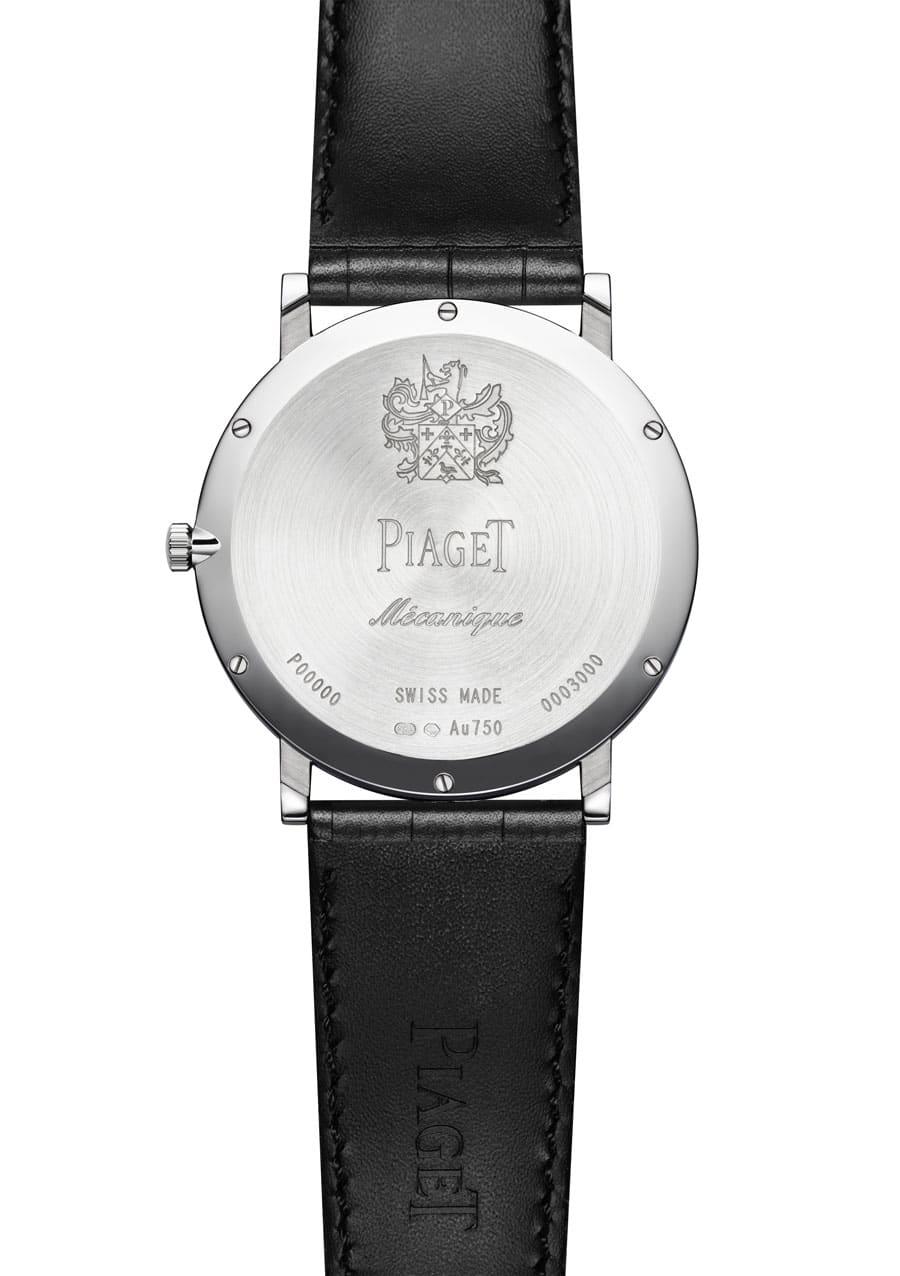 Piaget: Der stählerne Gehäuseboden dient gleichzeitig als Grundplatine für das Uhrwerk