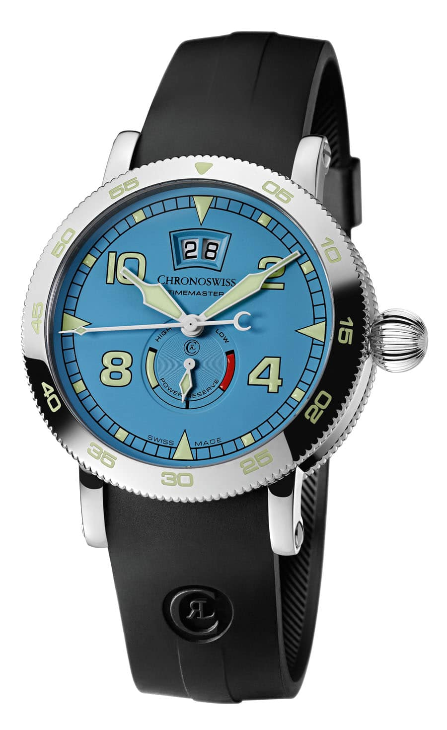 "Chronoswiss: Timemaster Big Date in ""Skyblue"""