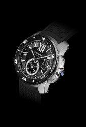 Die Calibre de Cartier Diver ist die derzeit flachste lieferbare Taschenuhr der Welt.