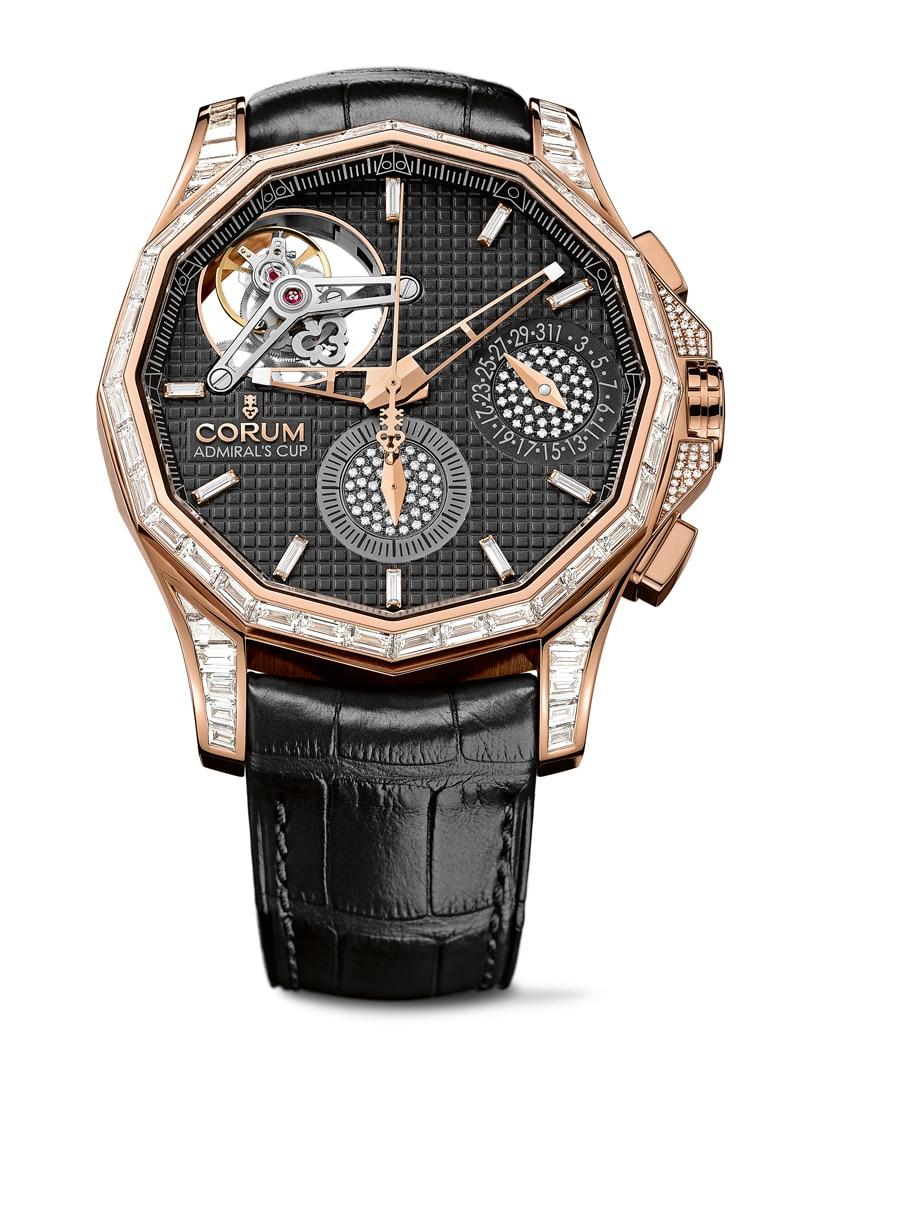 Corum: Admiral's Cup Seafender 47 Tourbillon Chronograph, ein Edelsteinmodell