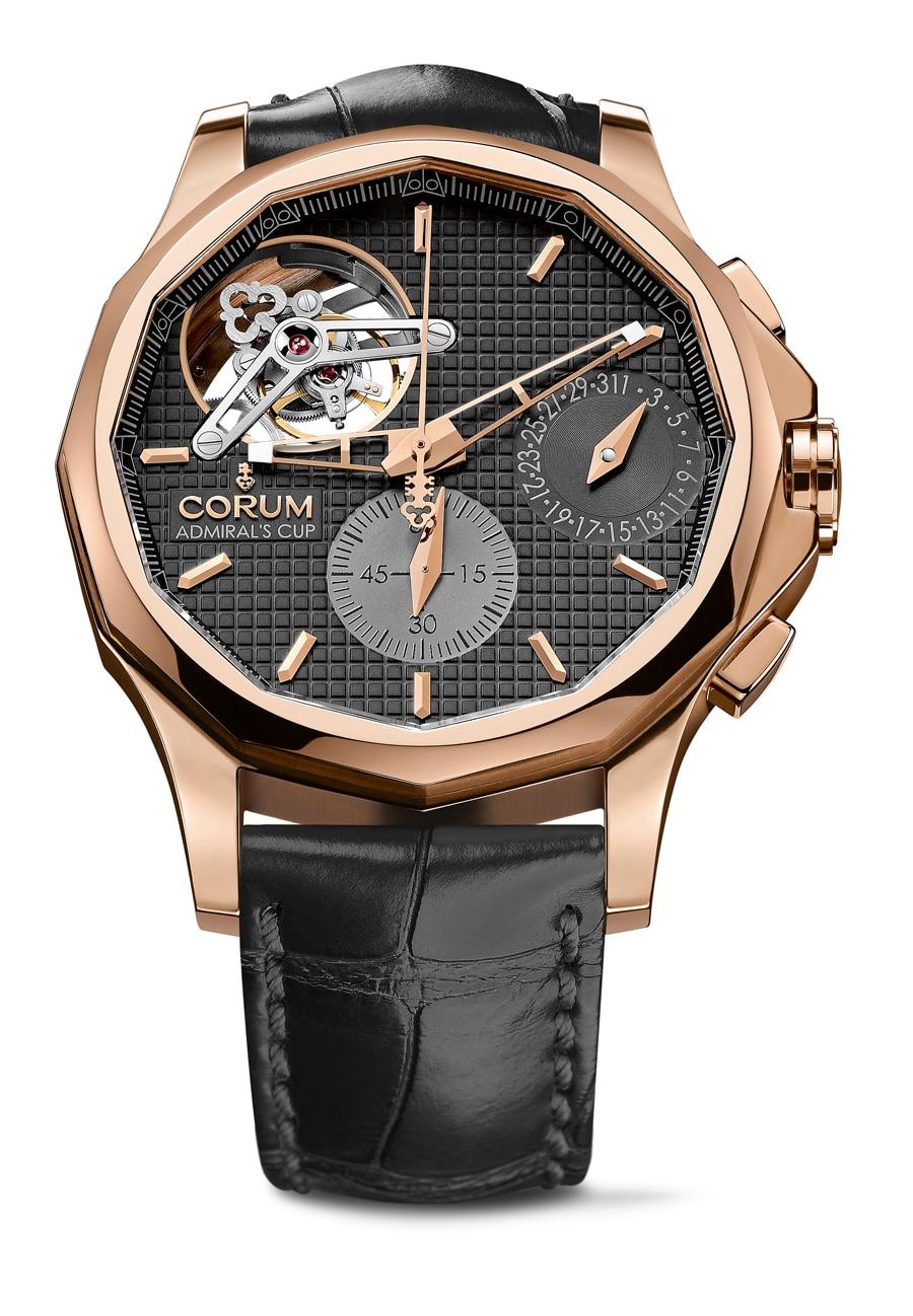 Corum: Admiral's Cup Seafender 47 Tourbillon Chronograph, Rotgoldgehäuse