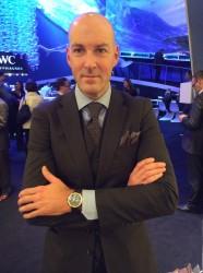 IWC-Designchef Christian Knoop mit der neuen Aquatimer in Bronze