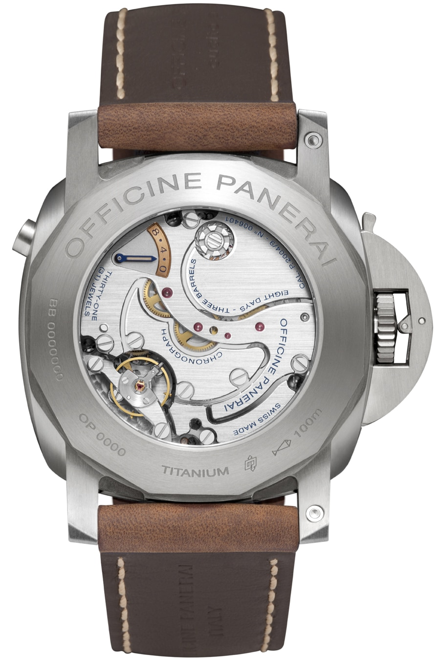 Panerai: Luminor 1950 Chrono Monopulsante Left-Handed, Rückseite