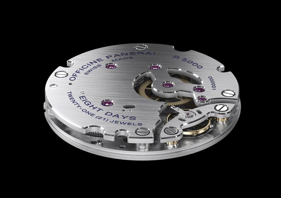 Leistungsfähiges Uhrwerk: das Handaufzugskaliber P.5000