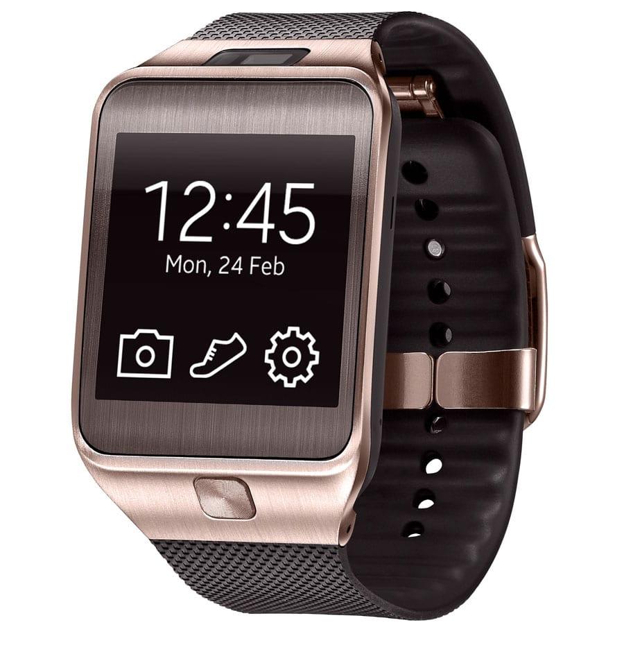 Samsung's goldfarbene Smartwatch Galaxy Gear 2