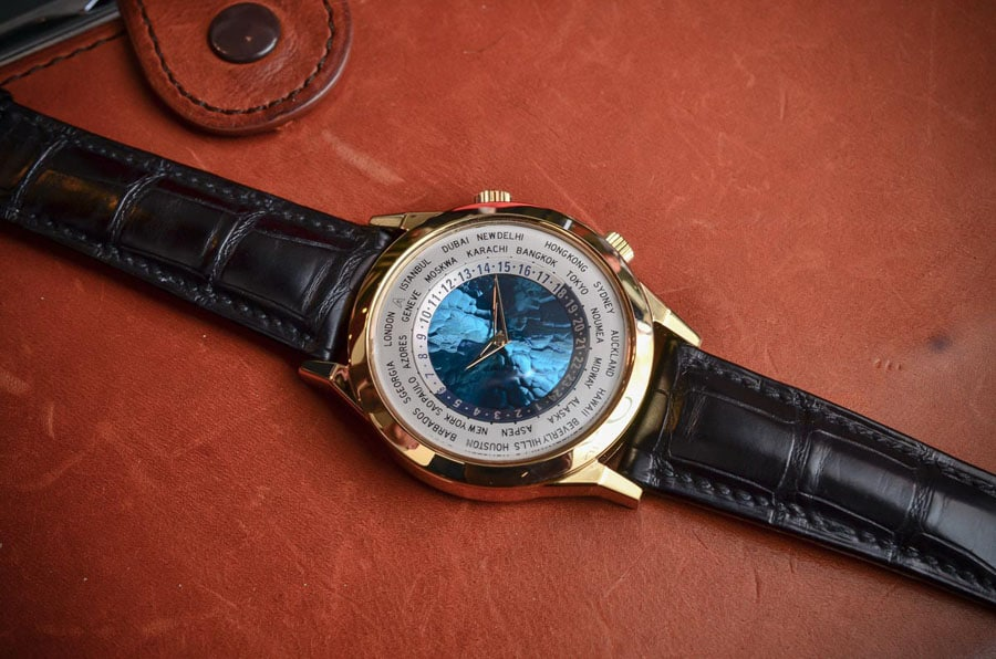 Andersen Genève: Weltzeituhr Tempus Terrae (Foto: MonochromeWatches.com)