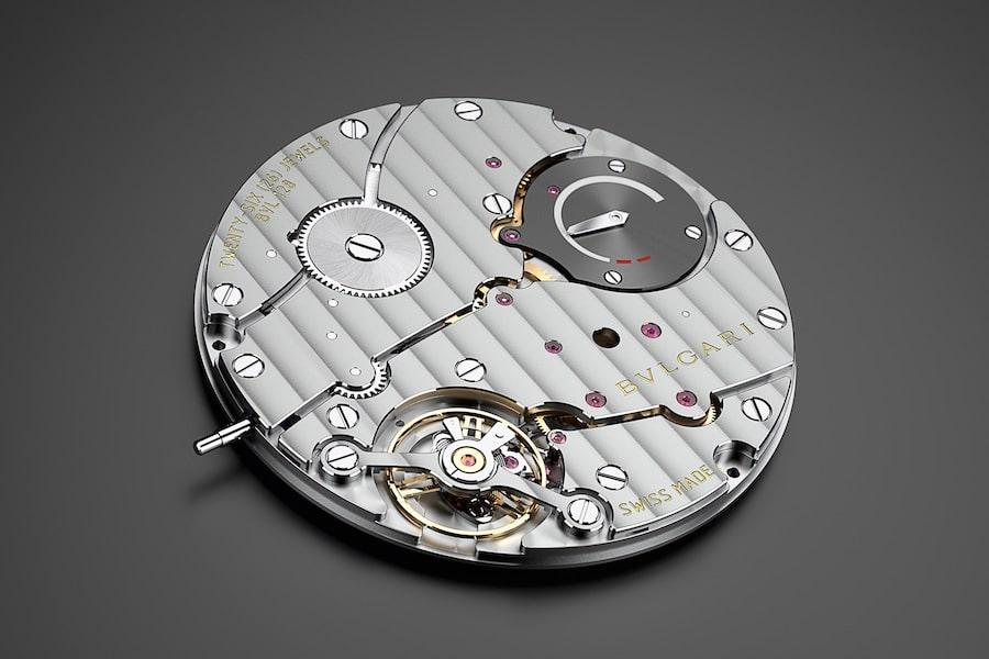 Bulgari: Das 2,23 Millimeter dicke Uhrwerk.