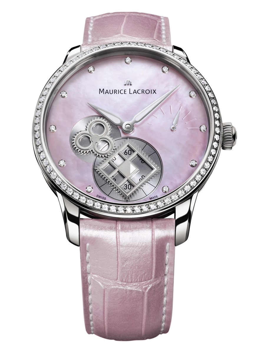 Maurice Lacroix Masterpiece Square Wheel Pink Pearl
