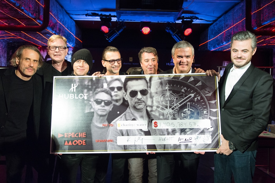 Hublot & Depeche Mode: Spende an charity:water