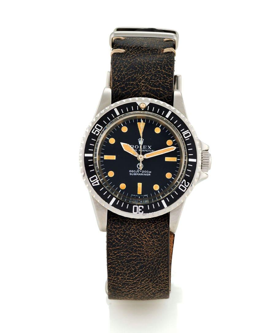 Militäruhren sammeln: Rolex Submariner Referenz 5513 (Foto: Antiquorum)