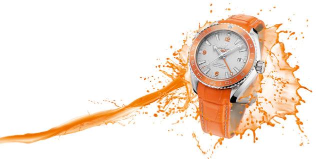 Omega: Seamaster Planet Ocean Orange Ceramic