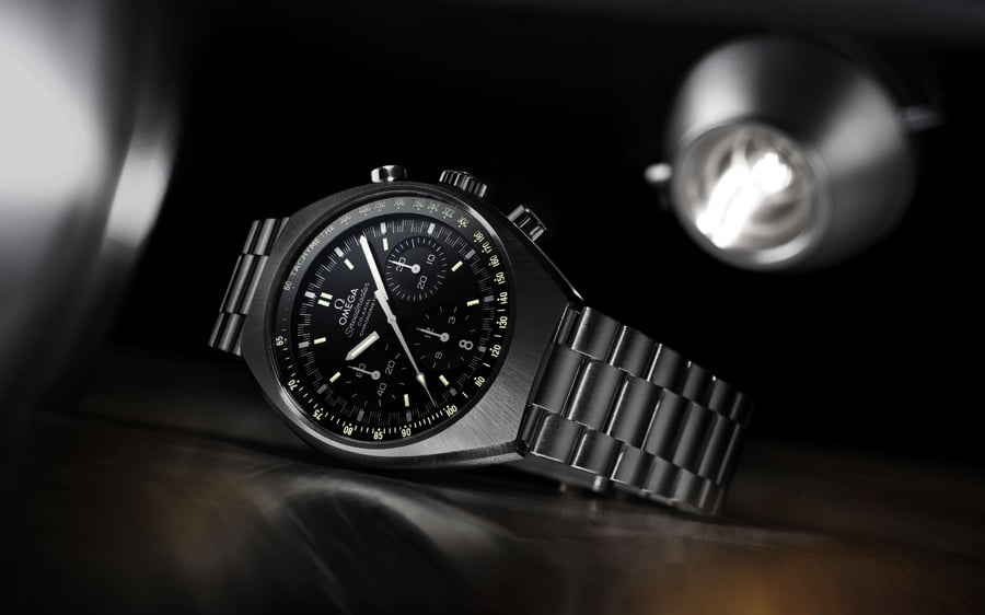 Omega: Speedmaster Mark II, schwarzes Zifferblatt