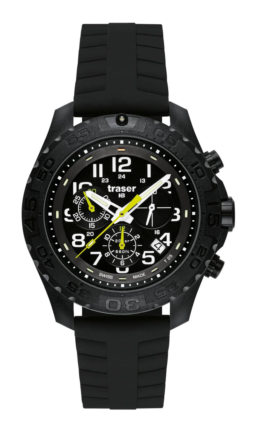traser® H3 Outdoor Pioneer Chronograph mit Silikonarmband Automatic Pro