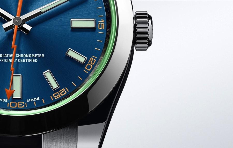 Rolex: Oyster Perpetual Milgauss Z-Blau