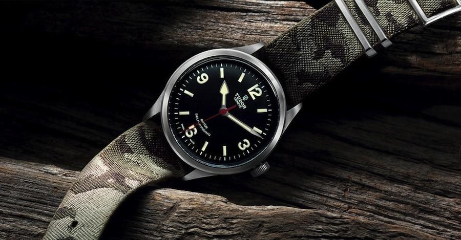 Bei der neuen Tudor Heritage Ranger gehört immer ein NATO-Staat zum Lieferumfang. Das Camouflage-Muster ist eingewebt.