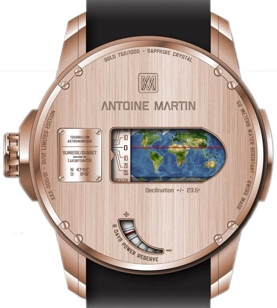 Antoine Martin: Tourbillon Astronomique, Rückseite