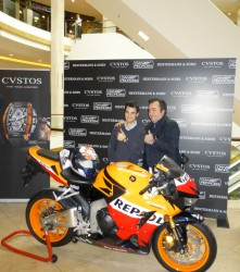 Dani Pedrosa und Antonio Terranova beim Custos Presse-Lunch