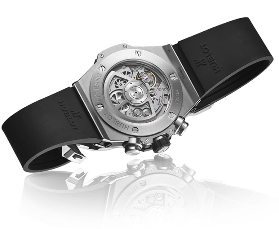 Hublot: Big Bang Unico, Rückseite