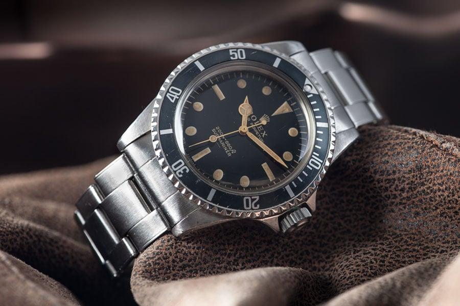 Rolex Submariner Referenz 5513 mit Gilt-Schrift
