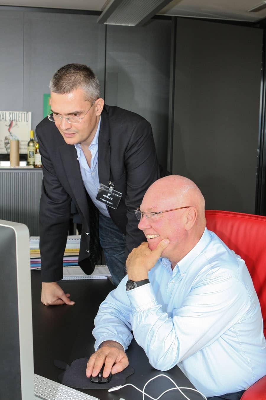 Chronos-Chefredakteur Rüdiger Bucher und Hublot-Verwaltungsratsvorsitzender Jean-Claude Biver