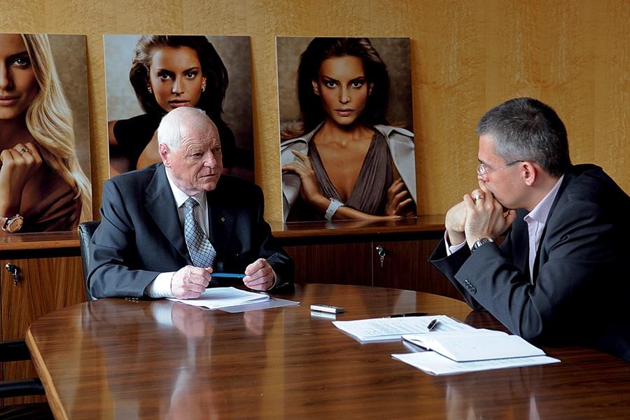 Patek-Philippe-Präsident Philippe Stern, Chronos-Chefredakteur Rüdiger Bucher