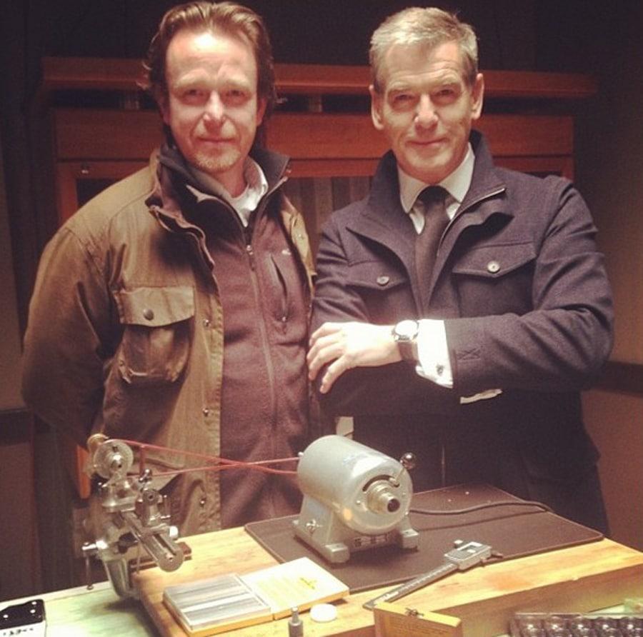 Uhrmacher Peter Speake-Marin und Schauspieler Pierce Brosnan