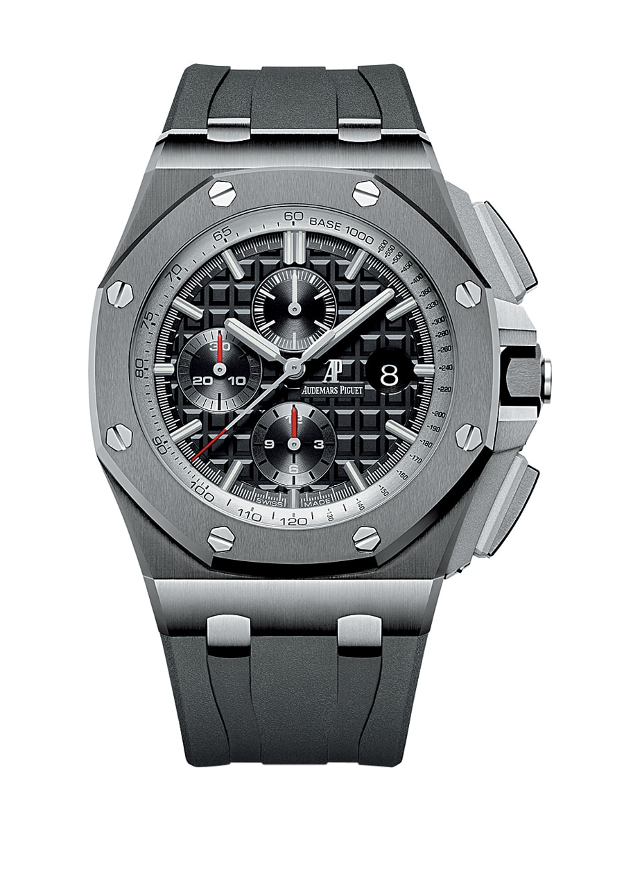 Audemars Piguet: Den Royal Oak</br>Offshore Chronograph gibt es in Schwarz...