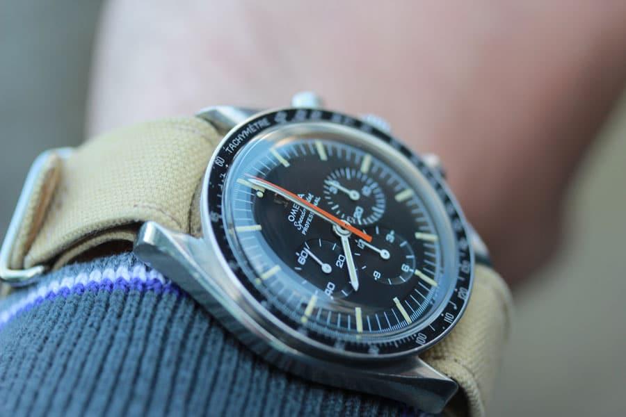 Die Omega Speedmaster Referenz 145.012 Buzz Aldrin mit Natoband