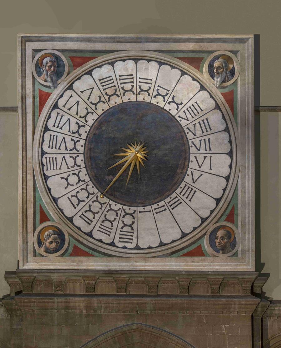 Das Zifferblatt mit der Originalbemalung von Paolo Uccello