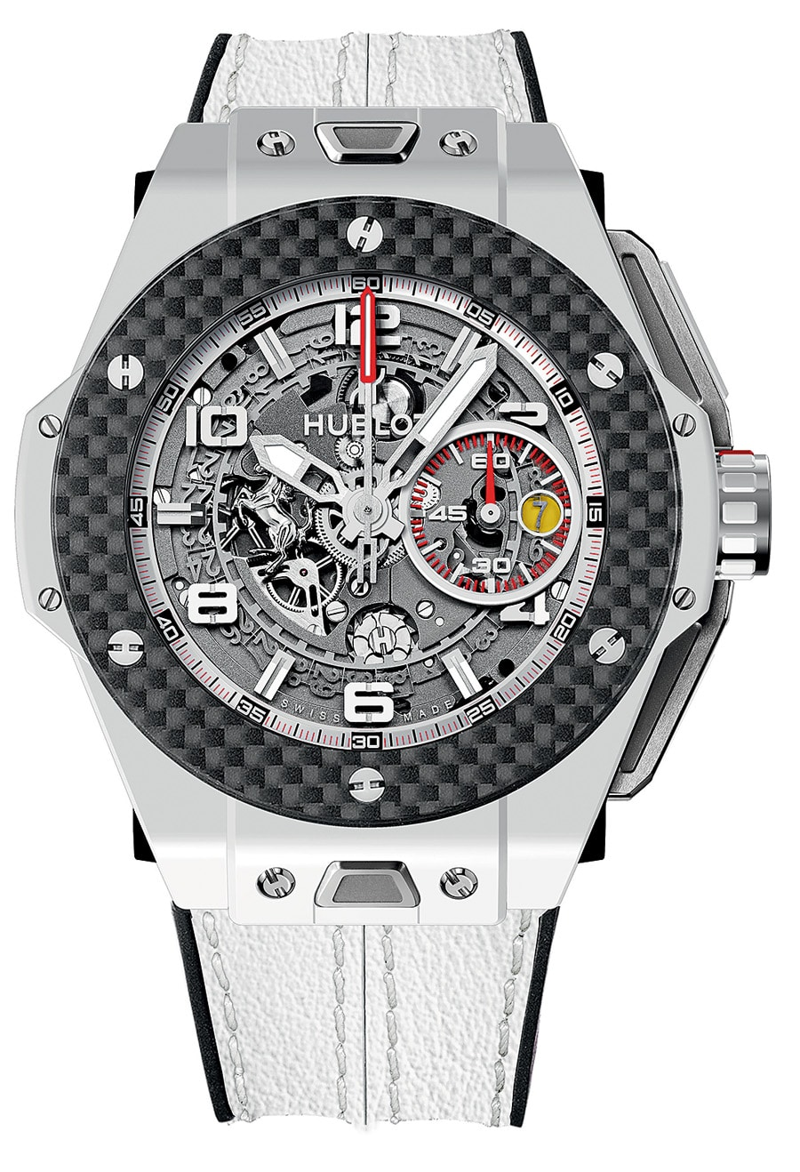 neue uhr big bang ferrari white ceramic carbon. Black Bedroom Furniture Sets. Home Design Ideas