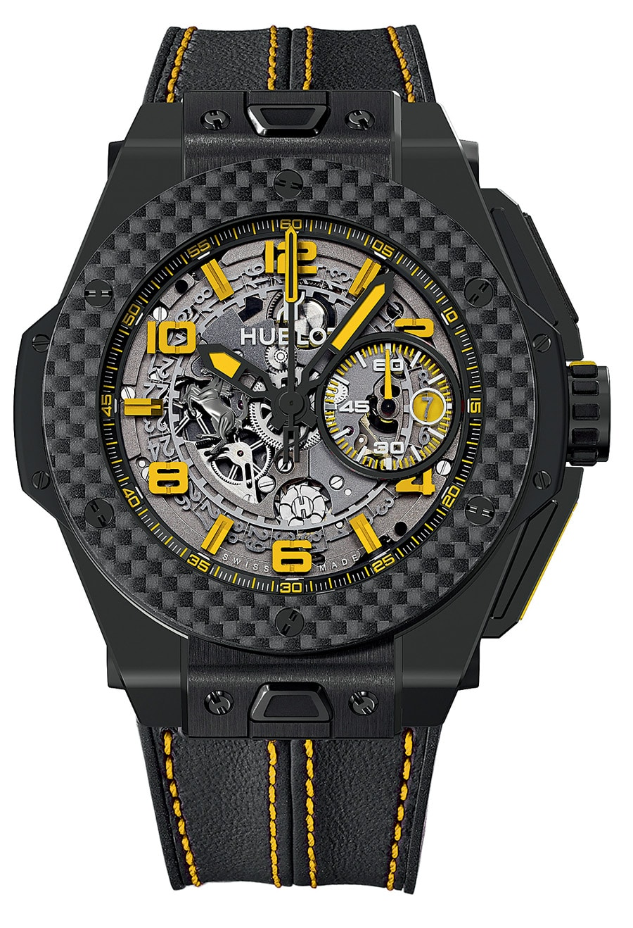 Die Hublot Big Bang Ferrari White Ceramic Carbon...