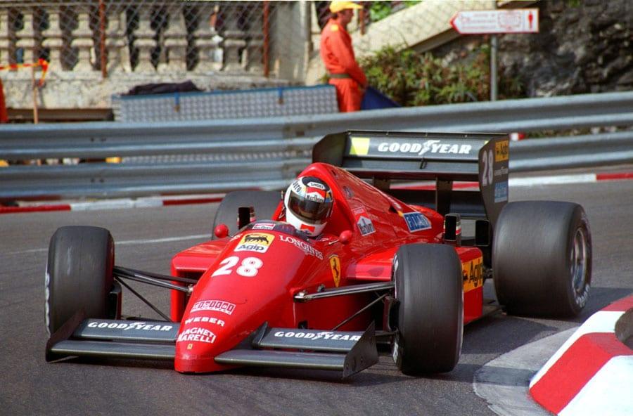 Stefan Johansson im Ferrari, Monaco 1986