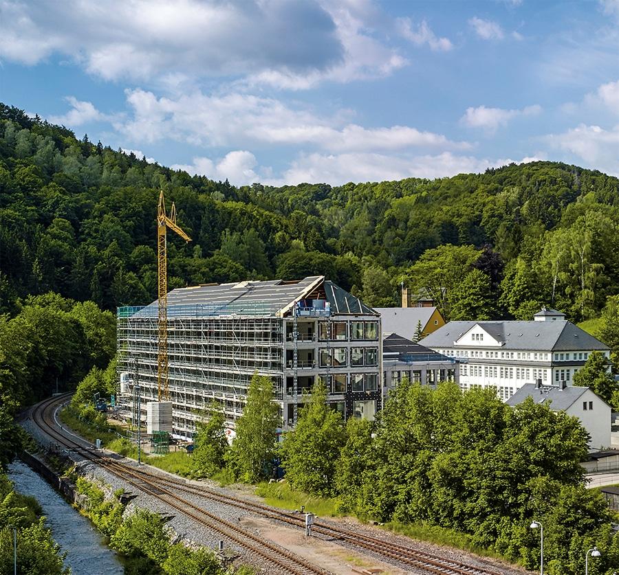 A. Lange & Söhne: Neues Manufakturgebäude, Gesamtansicht