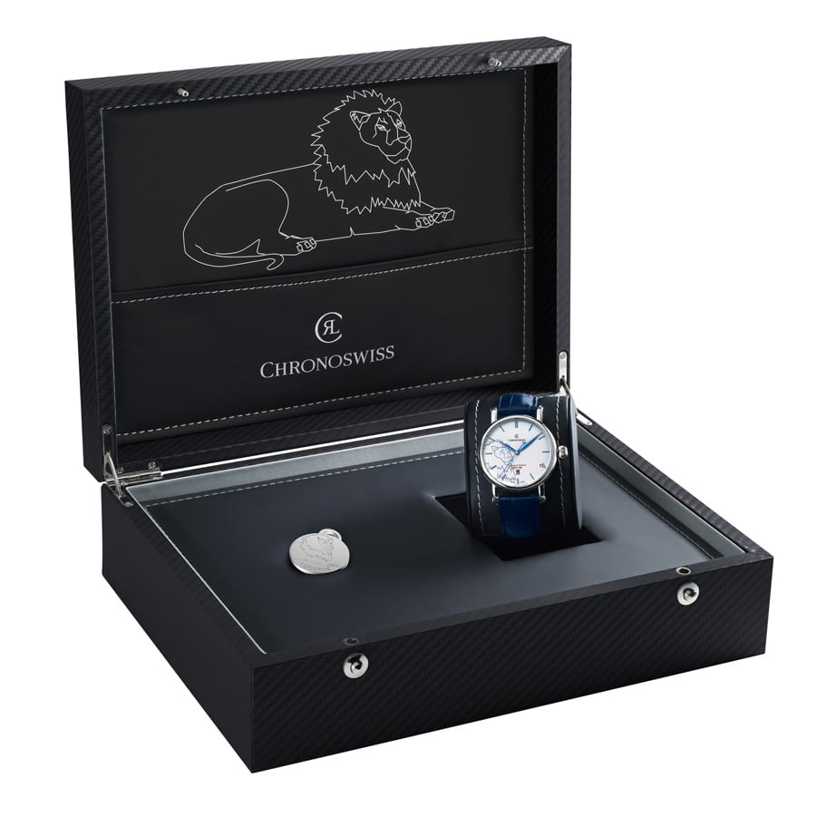 Chronoswiss: Sirius Lion Edition, Edelstahl in Schatulle