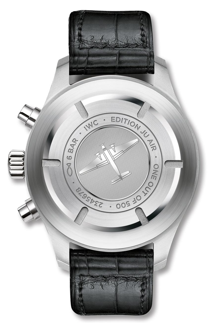 """IWC: Fliegeuhr Chronograph Edition """"JU-Air"""", Gravur"""