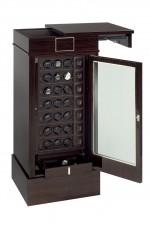 Das Modell 21RT EB OS von Scatola Del Tempo besitzt eine Fronttür aus schusssicherem Panzerglas und Fingerabdruck-Scanner