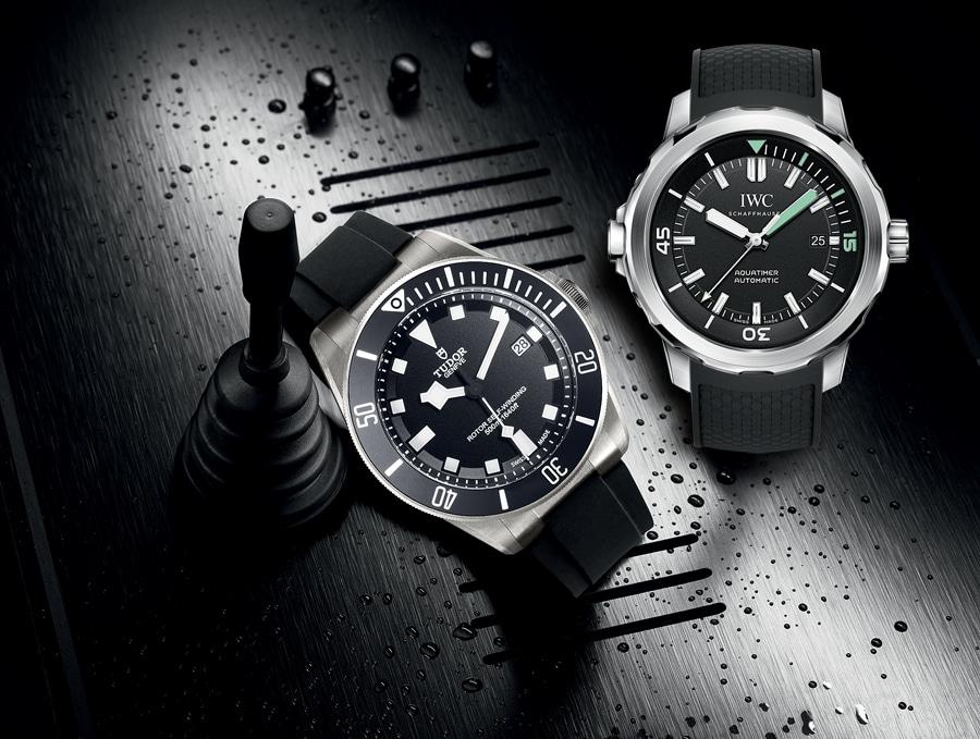 Tudor Pelagos und IWC Aquatimer Automatic (v.l.)