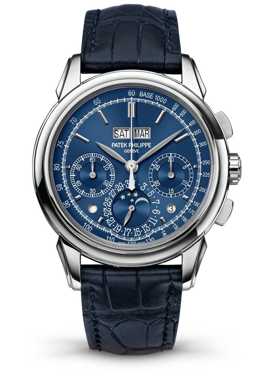 Patek Philippe: Grande Complication 5270G, Zifferblatt in Blau