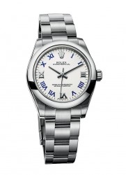 Rolex: Oyster Perpetual, weiß lackiert